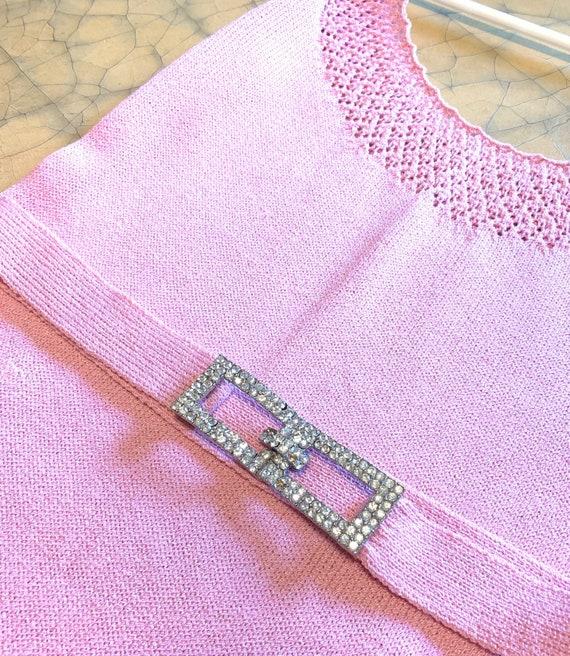 Vintage Beautiful Ballet Pink Knit Dress - image 6