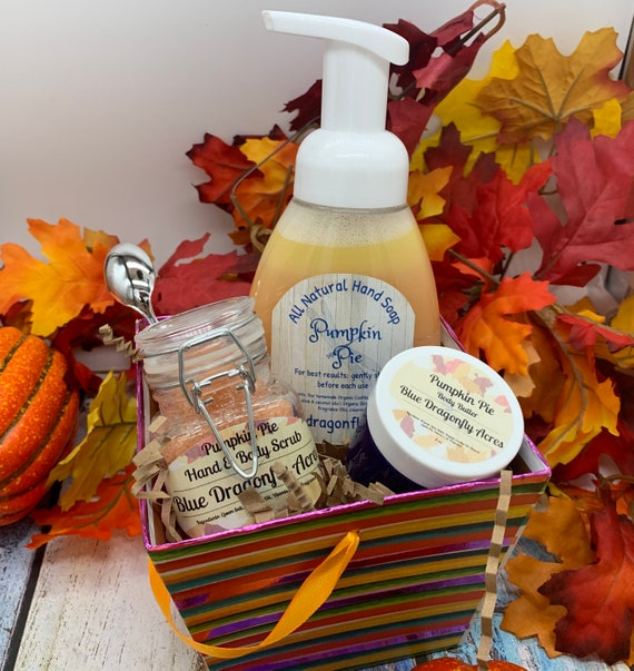 Pumpkin Pie Hand Care Gift Basket  Fall gift set  all