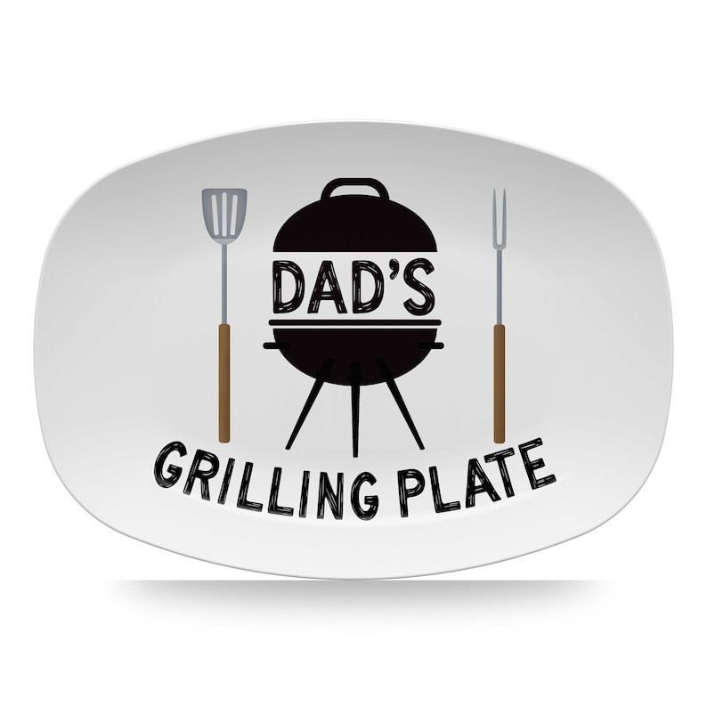 Personalized BBQ Grilling Platter Barbecue Grill Plate image 0
