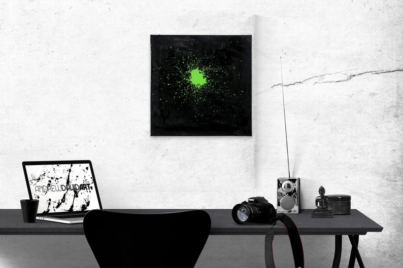 Small Decorative Minimalist Abstract Art Canvas  Envy image 0