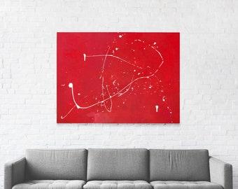 Large Decorative Minimalist Abstract Art Canvas – Rage
