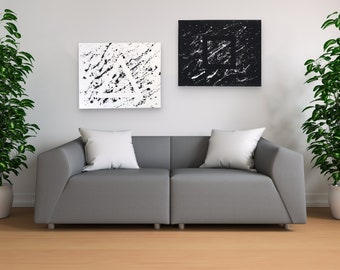 Minimalist Abstract Art Canvases – Hidden Shapes (Set Of Two)