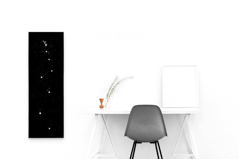 Large Decorative Black & White Minimalist Abstract Art Canvas image 0