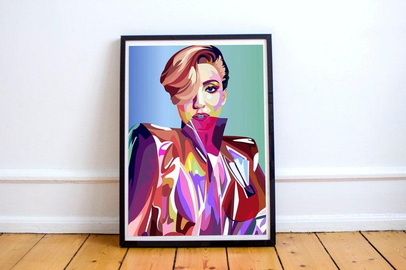 "LADY GAGA Poster Wall Print 24/"" x 36/"" inch 8"