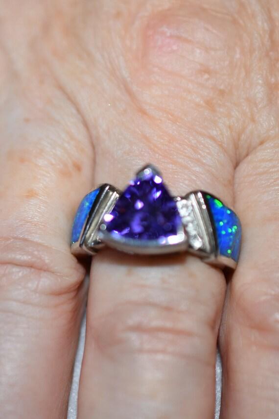 Sterling Opal/Gemstone Ring