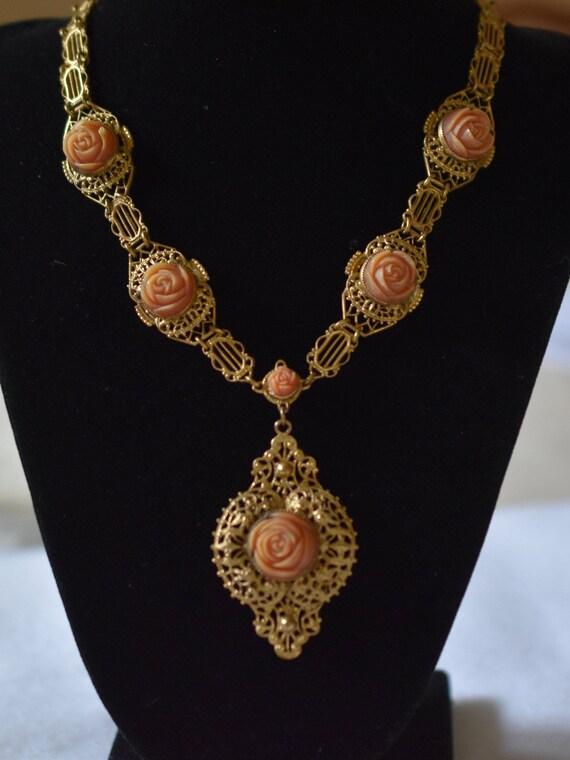 1930's Brass Necklace