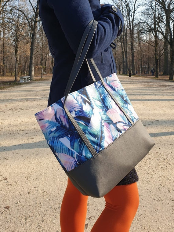 eco-leather tote bag and waterproof fabric