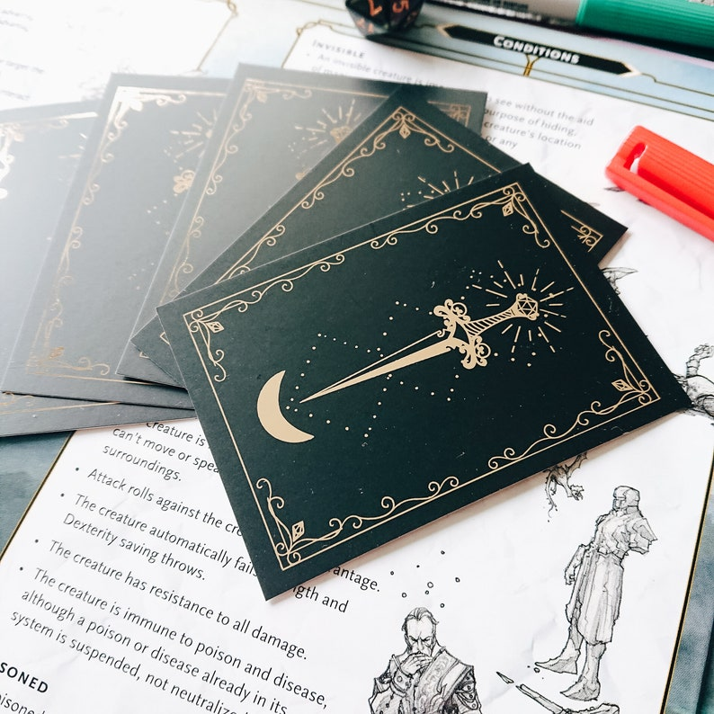Wipeable blank D/&D item cards ttrpg accessory