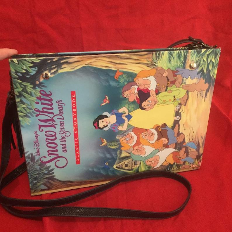 Snow White Book Bag Snow White Book clutch Book Clutch image 0