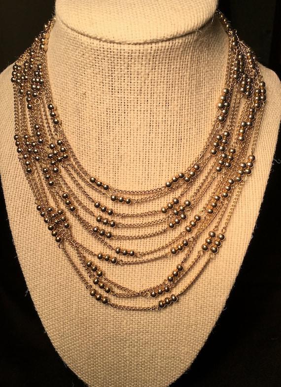 Vintage Kramer Multi-Chain Necklace - image 1