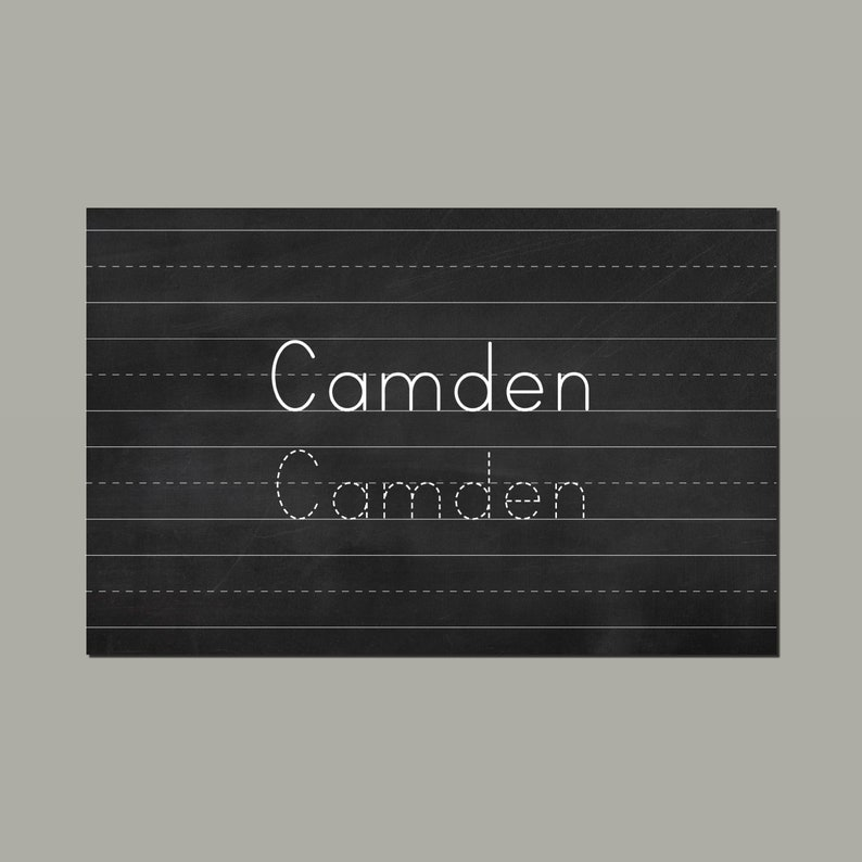 Chalkboard Personalized Placemat