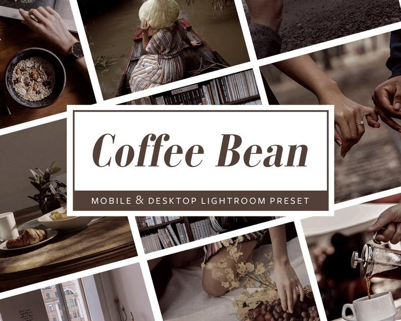 6 Mobile & Desktop Lightroom PresetsCoffee Bean  Photo image 0