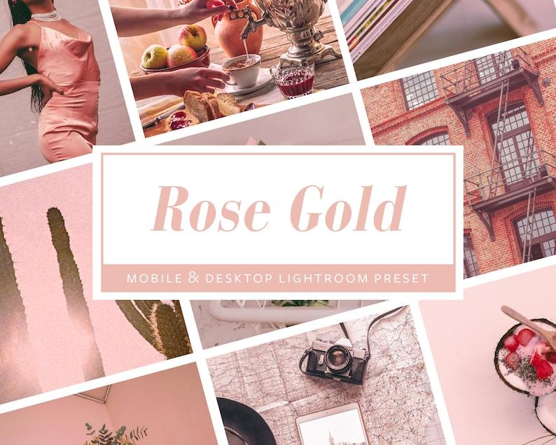 6 Mobile & Desktop Lightroom PresetsRose Gold  Photo Filters image 0