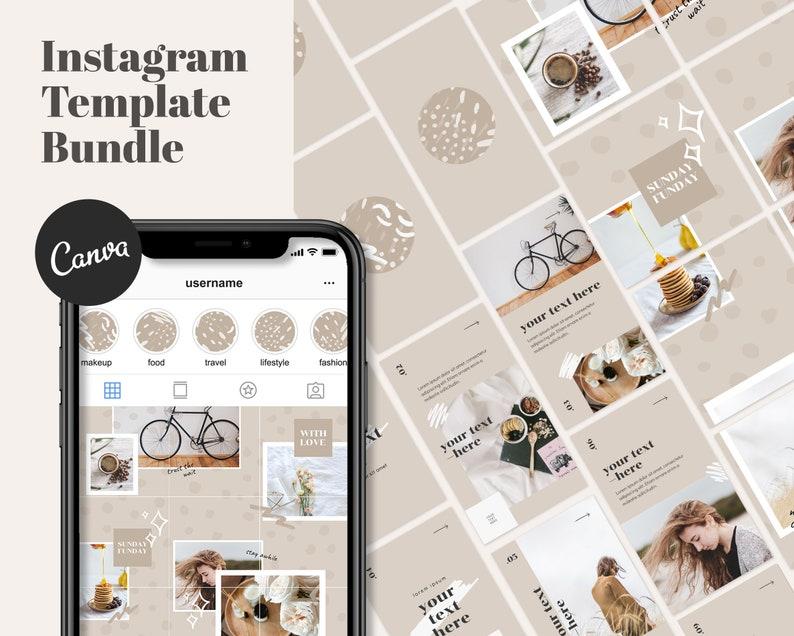 Instagram Template Bundle For Canva  Instagram Puzzle image 0