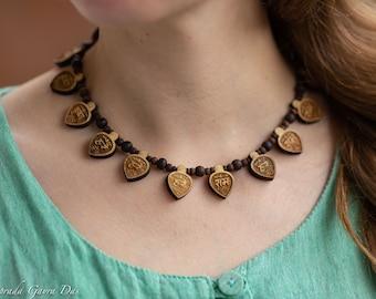 lotus feet Shri Radhe hare krishna kanthi mala jay Shri radhe Mala Tulasi mala necklace Beautiful    Handmade tulsi Kanthimala
