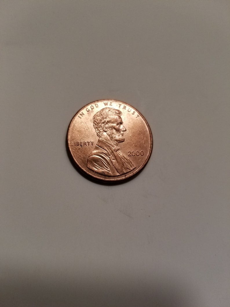 Uncertified 2000 Lincoln Penny Red