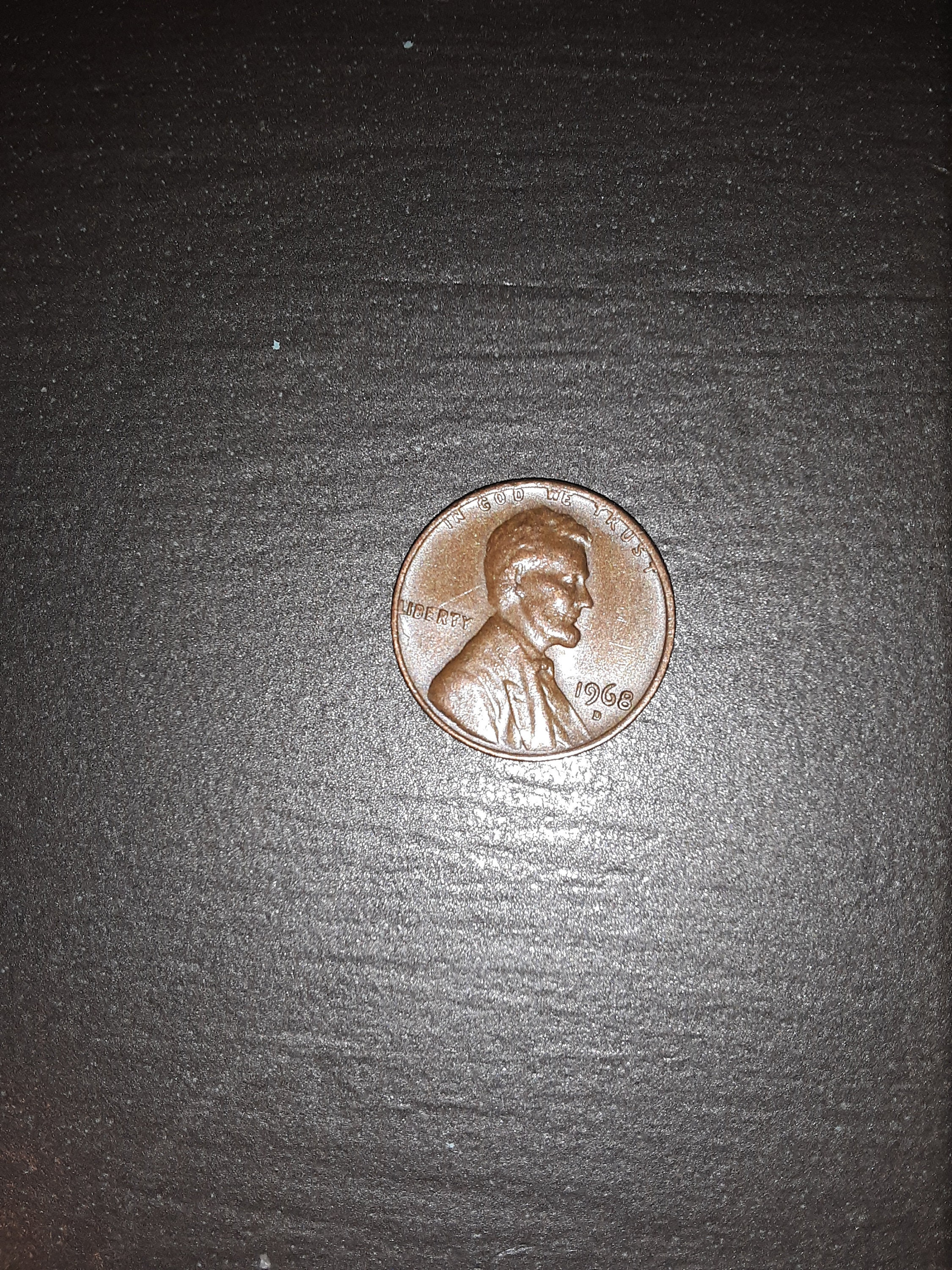 Rare Mint Mistake Coin Error 1968 D Penny Double Die Reverse Side DDR