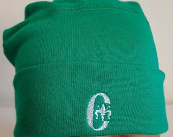 New Vintage Conte Of Florence Beanie Hat Skull Fitted Stretch Retro Green  Cotton Wool Acrylic Knit Vintage Winter Pompom Ski New Mens Womens a46e056dfd9a