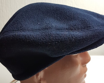 Conte of Florence Vintage 90s Italy new Newsboy Baker ear flap hat winter  Thermal Padded New cap Fleece Fitted mens Golf blue navy 57 58 8e332ed412f0