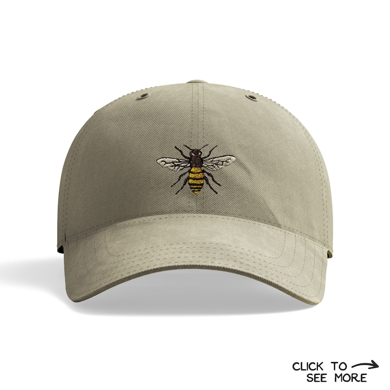 4f8d27b5228 Bee Dad Hat Bee Baseball Cap Bee Embroidered Hat Bumble