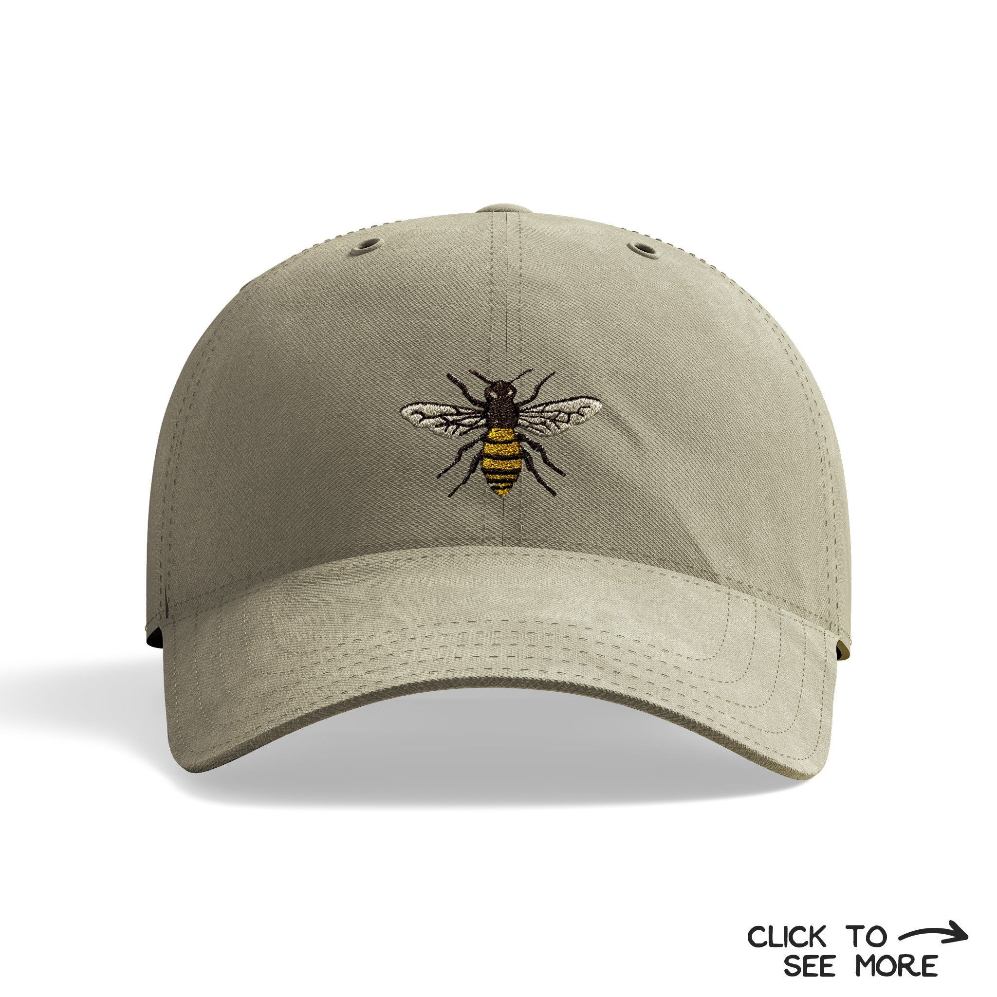 Bee Dad Hat Bee Baseball Cap Bee Embroidered Hat Bumble  9e72772b0bd