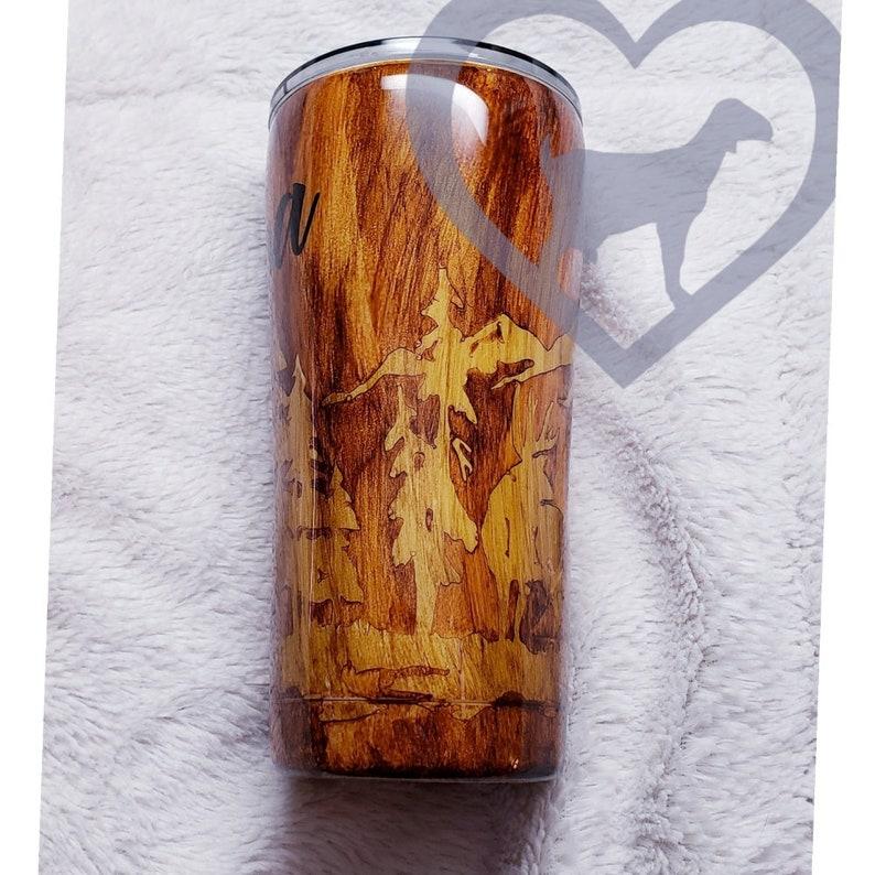 355e3e100a5 Wood grain tumbler//Stainless Tumbler//Tumblers for | Etsy