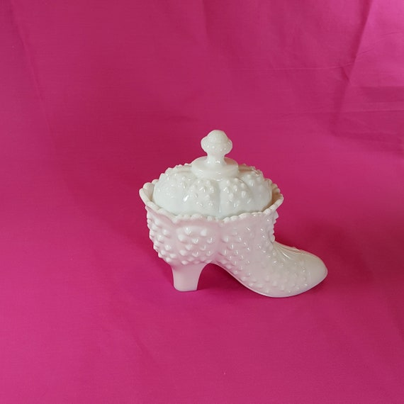 Vintage Fenton Milk Glass Candy Dish With Lid Mothers Day Gift Etsy