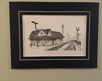 Jonesborough Railyard Letterpress Print