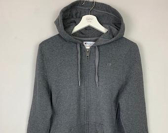 320f4456d267 Men s Champion ECO Hoodie Hooded Jacket Jumper Full Zip Up Grey UK Size  Large L