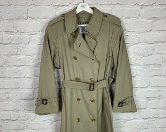 35155709f3d Vintage Burberry Trench Coat In Beige With Belt Belted Jacket Medium M Mens