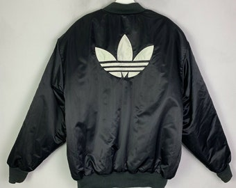 d57eae3badf1 Men s Vintage adidas originals Puffer Jacket Bomber Style Coat Black UK  Medium M