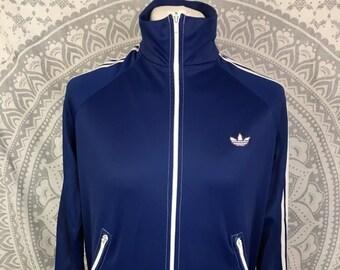 516562ab2a65 Herren 80 s 90 s Vintage Retro Adidas Originals Track Jacke dunkel blau UK  Größe M