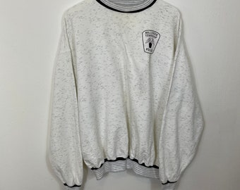 Vintage TACT SQUAD Canvas Patched Militia Tactical 90s Police Sweater