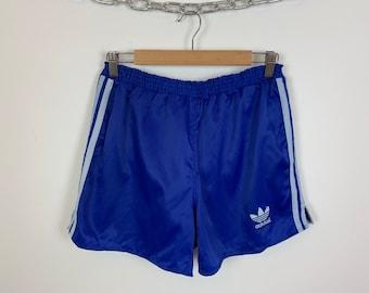 61762b272517a Men's Vintage 90s adidas originals Sprinter Shorts Blue UK Size Medium D 5  W 32