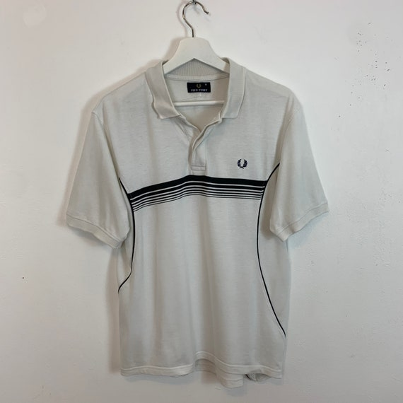 FRED PERRY Ringer dot dot Medium Size Vintage 90s Fred Perry Skin Head Clothing Brand Polo Vintage #252-7