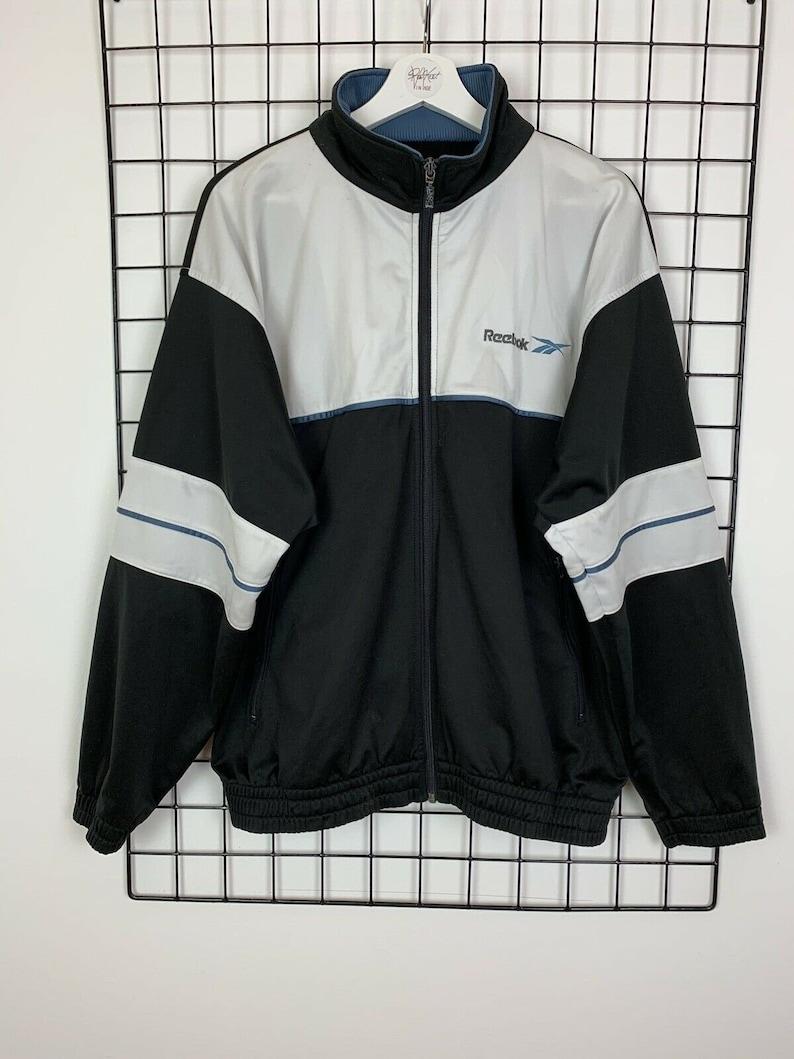 dda4f462fd0fe Men's Vintage Reebok Softshell Tracksuit Track Jacket Black UK Size 2XL XXL