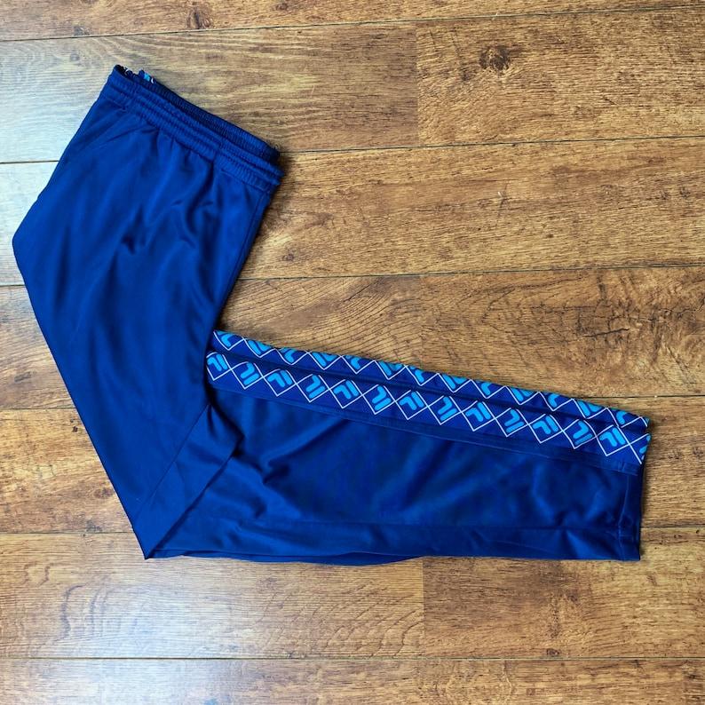 Men's Vintage 90s FILA Track Pants Bottoms Trackies Blue UK Size XXL 2XL