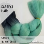 2 Tone Ombré - 1B/Mint Green Ombre Colors Braiding Hair (Single Packs) - 24 in.