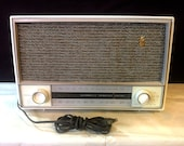 Mid-Century Tube AM FM Radio - Zenith L724 TableTop - Working, Great Sound, Very Clean - Free Shipping
