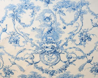 Toile de Jouy fabric French country style upholstery fabric