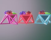 3d print ready file(stl x3d format)- Upside down triangular based pyramid planter