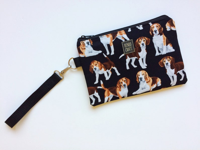 bc9124a89e42 Cosmetic bag with Beagle, handbag for dogs lover, waterproof toilet pouch,  doggie purse