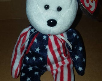 16f043035bd Retired Ty original Spangle (white face) beanie baby