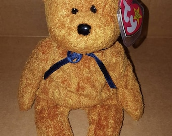 Rare retired Tr original Fuzz beanie baby with error 7c67000901a1