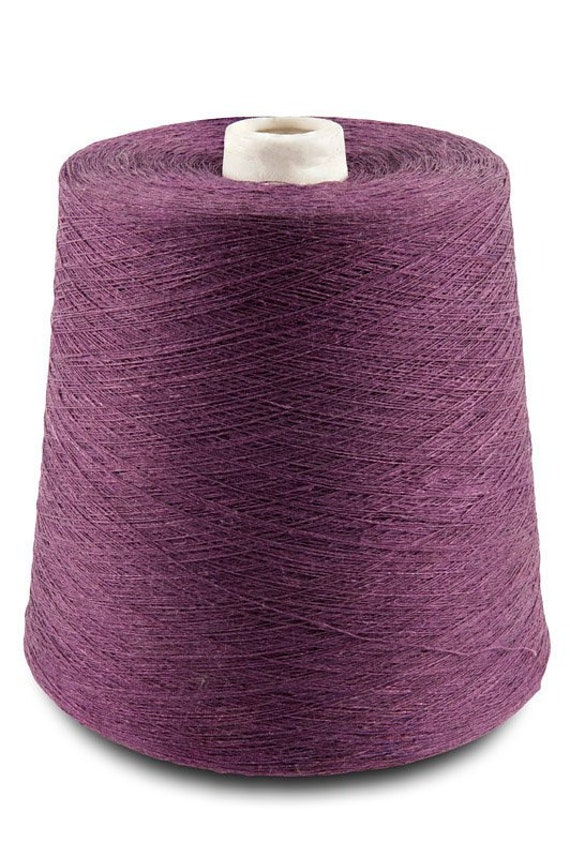   dyed flax threads 17.6oz light violet color 3 12 500g cone made by Siulas 100/% linen yarn single or twisted