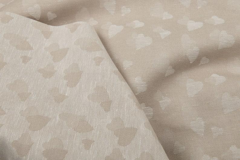 6.19oz yd Jacquard fabric sun flower motive Weight 210 m Linen blend jacquard fabric in a sun pattern Width 150cm   made by Siulas