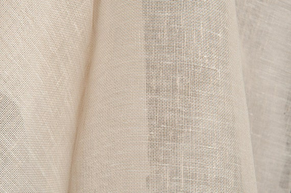 Gauze 100/% linen fabric loose weave weight 110gsm for sewing scarves strong green color shawls curtains width 150cm etc