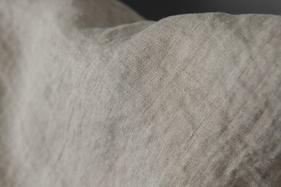 bedding Lithuania by Siulas home textile not dyed flax yarns Washed grey linen fabric width 145cm for clothing weight 170gsm