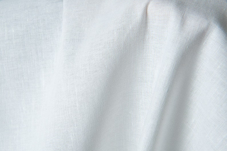 half-linen solid plain fabric made by Siulas 59\u2033 | Weight 160gsm Optical white linen  cotton fabric Width 150cm or 180cm 71\u2033