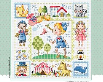 Pinocchio - Soda Stitch Cute Counted Cross Stitch Pattern